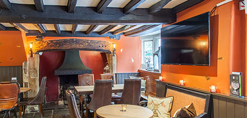 Traditional pub with fire place